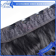 Hot sale double stitched hair extension weft, synthetic hair extension pony tail,natural curly hair extension