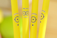 Cheap shipping! Fancy animal gel pen carton gel pen , one eye minion or two eyes minion gel pen mix stytle