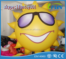 inflatable helium air sun for sale / inflatable floating sun balloons helium / inflatable advertising sun with helium air