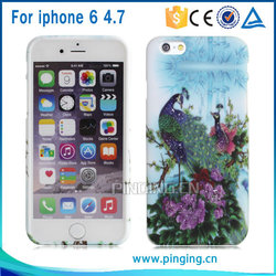 3d image protective case for iphone 6, water transfer printing phone case for iphone 6