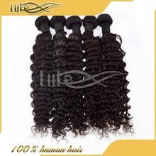 Unprocessed deep wave deep curl remy brazilian human hair mini elastic hair bands