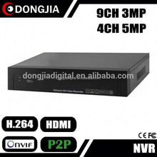 DONGJIA DJ-2009DS onvif network security system 9ch 8ch 3mp dvr parts