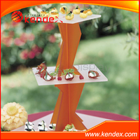 acrylic twist display stand for cake