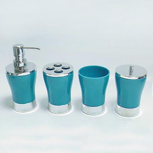 Classique design clair acrylique vase forme bleu salle de for Accessoire de salle de bain bleu