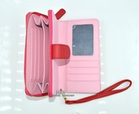 portable zipper small leather bag with business card&money&mobile,leather woman phone case bag