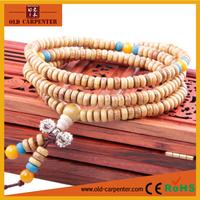 Confidante DIY wooden creative gifts Gold Sandalwood Tibetan Prayer Meditation Mala small Buddhist bracelets beads