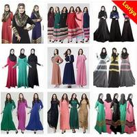 New style hot sale muslim long sleeve maxi dress