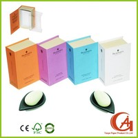 printed rigid cardboard olive oil soap packaging box