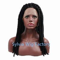 synthetic black curly Lace Front Wig For African American Black Woman with heat resistant fiber free shipping