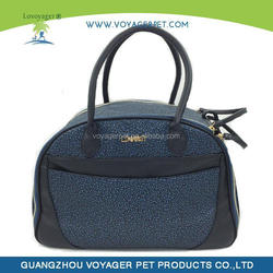 Adjustable nylon pet carrier with wheels for dogs