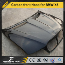 Carbon Fiber Bonnet Front Hood body kit for BMW X5 2007-2012