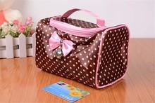 Fashion zipper Cosmetic Bags cases wholesale china Girl metal zipper Makeup Bag