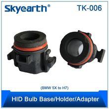 New design led no error led decoder adapter for citroen c5 h7 hid xenon bulb holder adapter for peugeot