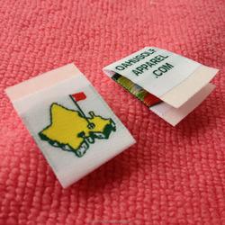 high density white taffeta woven label for golf apparel