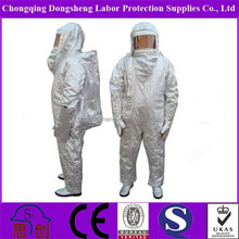 1000 Degrees anti radiation Aluminized fire rescue high temperature proof safety suit