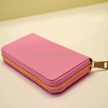 genuien leather saffino women wallets,zippered ladies leather wallet,women zip around wallets