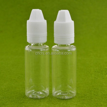 China manufacturer 10ml PET dropper bottle with tamper evident caps and thin dropper needle