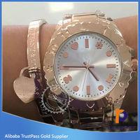 2015 design Geneva Rhinestone quartz stainless steel watch water resistant women watch