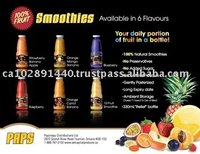 PAPS 100% FRUIT SMOOTHIES AND JUICES