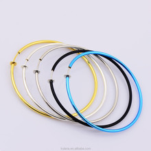 Simple Design High Quality 50 mm Stainless Steel Material Colorful Children's Hoop Earrings