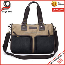 Canvas Messenger Bag Perfect Fit Laptop Bag Khaki