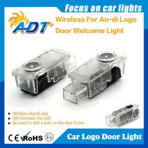 Yüksek kaliteli 3 W osr audi için led led araba kapı logo lazer projektör işık led araç logo