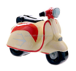 Custom novelty large plastic motorcycle shape coin banks for kids