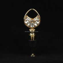 Factory Own Design High quality decorative wine stoppers Crystal Gold Crystal decorative wine bottle stoppers