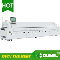 obsmt-Hot air cheap SMT Reflow oven ,Reflow soldering equipment oubel Large wave soldering machine With PC monitoring and PLC