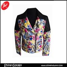 Autumn newest girl flowers printed big jacket coat