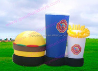 Hot sale giant inflatable hamburger, inflatable burger, inflatable can for advertising