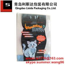 laminated printed plastic silica gel cat litter bag