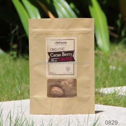 kraft paper flat bottom bag / block bottom bag / square bottom bag for coffee packaging