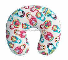 Popular fashion doll pattern beads neck pillow for travel