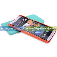 Soft touch painted PC cell phone case for HTC One M7