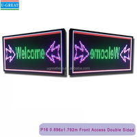 Outdoor Double Sided Programmable Scrolling LED Message Sign