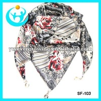 fashion lady triangle scarf
