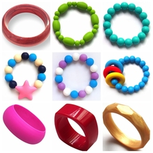 Kids Teething Bracelets/Food-safe Non-toxic New Mom Accessories Baby Nursing Bangle Jewelry