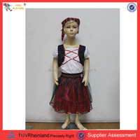 PGCC-0202 Little pirate girl's dress with headhood cosplay party clothes