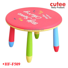 plastic round kids dining table