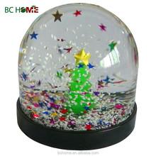 Resin & plastic glass snow globe christmas ornament crafts Christmas present for kid's gifts, christmas souvenir water globe