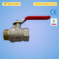 PN30 Forged Brass Gas Ball Valve With Yellow Thread
