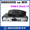 factory price dm800hd se with BCM4504 DVB-S/S2 tuner can with V2 remote control,with wifi clone dreambox 800 hd se