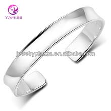 New design ajustável 925 pulseira de prata para o homem
