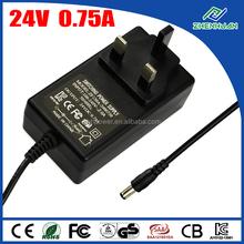 Shenzhen power transformer 24V 0.75A variable DC power supply 18W