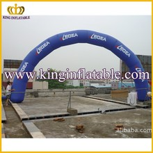 Semi Circle Blue Inflatable Archways, Cheap Inflatable Entrance Arch For Rental