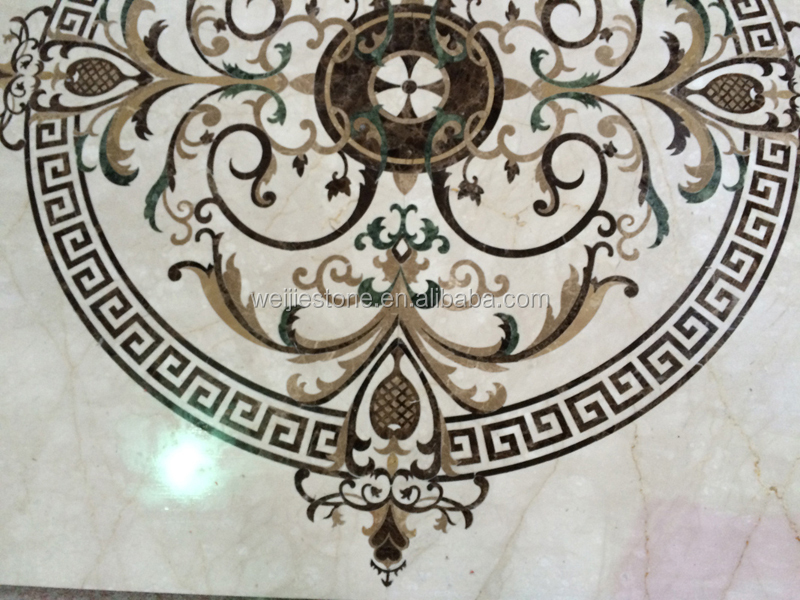 Stone marble Foyers and entryways waterjet water jet medallion for the ...