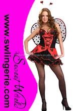 Womens adult Small Miss Ladybug Costume Sexy Halloween Dress up Costume Girls Hot Cute C923