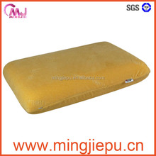 Traditional Cervical Neck Bed Memory Foam Pillows, Removable Zippered Cover