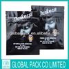 Darkness plastic zipper herbal incense bag